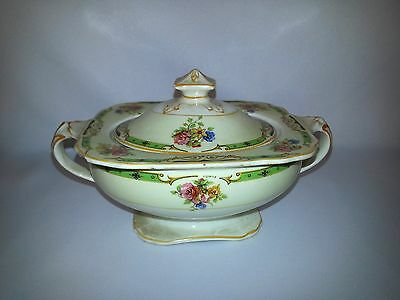 Sugar Bowl Container Windsor Ivory W.H Grindley Vintage England Marked GORGEOUS!
