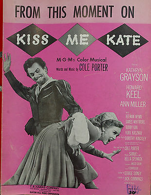 """""""FROM THIS MOMENT ON"""" BY COLE PORTER FROM THE MGM FILM """"KISS ME KATE""""/ (C) 1950"""