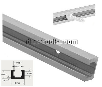 """48"""" ALUMINUM T-track T-slot, Band Saw, Router Table Saw Jig 3/4x1/2 OD, 4ft, SM"""