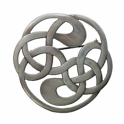 Celtic Knot Brooch, Antique or Chrome Finish Available