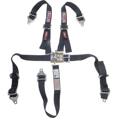 G-FORCE 6460BK Pro Series Latch & Link 5-Point Safety Harness Pull-Up Lap Belt