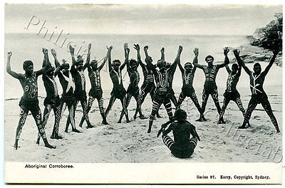 C.1905 Pt Npu Postcard Aboriginal Corroboree Nsw Kerry Publisher Sydney D16.