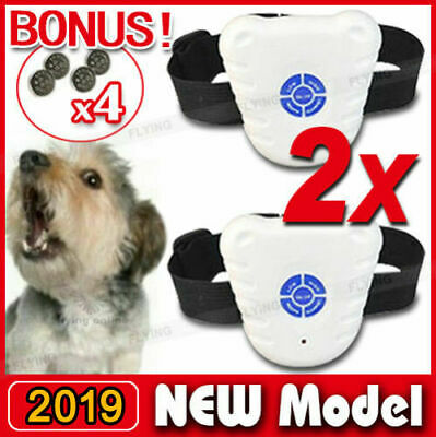X2 Bark Stop Pet Dog Training Collar Ultrasonic Anti Barking Control Waterproof