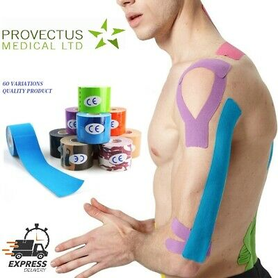 Kinesiology Tape Sports Physio Muscle Strain Injury Support KT Sports 2.5 5 7cm