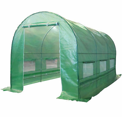 Fully Galvanised Frame Polytunnel Greenhouse Pollytunnel Poly Tunnel 4m x 2m New