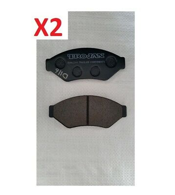 2x trojan hydraulic Disc Caliper Brake Pads for Boat or Trailer D116