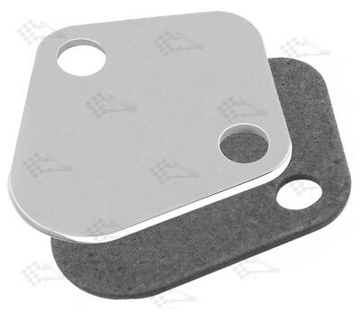better than chrome Fuel Pump Blanking Plate Chevy Big Small Block Billet Alloy