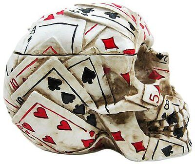 NEW Poker Skull Stash Box / Container Playing Cards