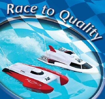 15-inch Remote Control Racing Boats For Pools - Built in Rechargeable Batteries