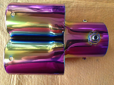 Vehicle Car Stainless Steel Chrome Exhaust Muffler Tip Caliber 6.0cm Color