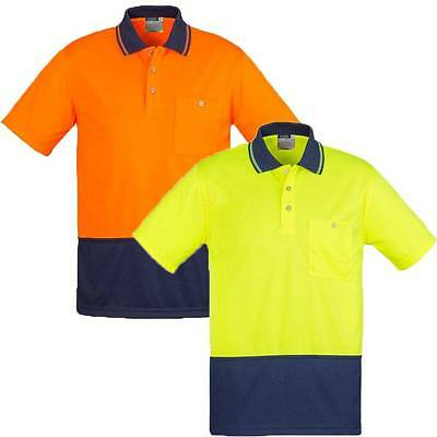 5 Pack Unisex Basic Hi Vis Safety Work Polo Shirt Mens Ladies Top Factory ZH231
