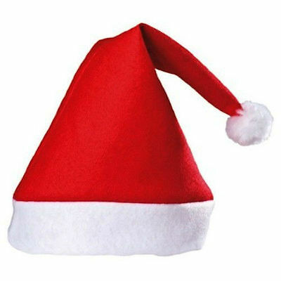 Pack Of 100 Red Christmas Hat Hats Santa Office Party - Great Value!!