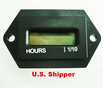 Hour Meter with Reset 110 volt to 230 volt AC 60 Cycle New in box. Free Ship USA