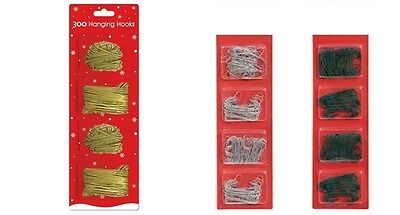 300 Christmas Tree Ornament Baubles Hangers Hooks Hanging Wire Holders Craft
