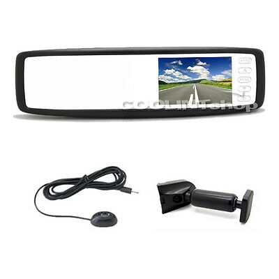 4.3'' TFT LCD Car Mirror Rear View Monitors Touch Button Screen 2CH Reverse Cams