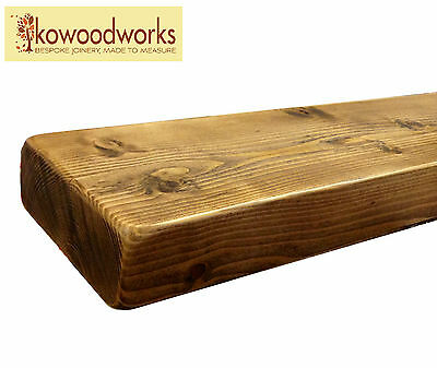 """9"""" X 3"""" Rustic Floating Wooden Shelf Solid Industrial Chunky Wood - Pine Shelves"""