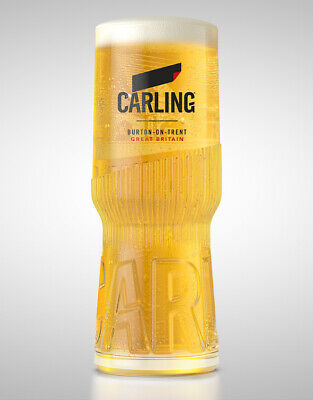 Personalised Engraved Branded 1 pint Carling Lager Beer Glass With Free Gift Box