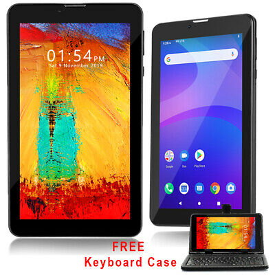 "Unlocked 7.0"" Android 4.4 Phablet GSM DualSim Tablet 3G Phone Smart Cover Bundle"