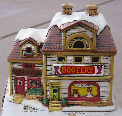 Colonial Village Collection BOOTERY accessories train USED TWD 06903 ns