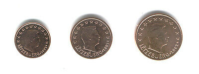 Luxembourg 2002 - Mini Set of 3 Euro Coins (UNC)