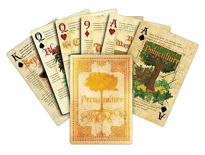 NIB Brand New Permaculture Playing Cards Deck by Paul Wheaton, eco friendly gift