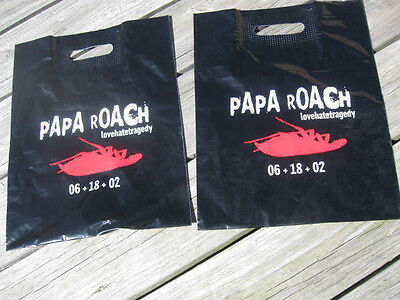 PAPA ROACH lovehatetragedy SET OF (2) PROMOTIONALSHOPPING BAGS NEW/UNCIRCULATED