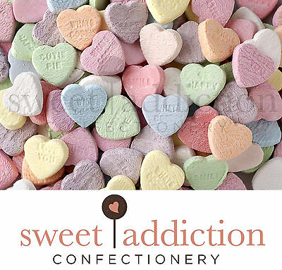 1kg Conversation Love Hearts - Bulk Wedding Lollies Candy Buffet AUSTRALIAN MADE