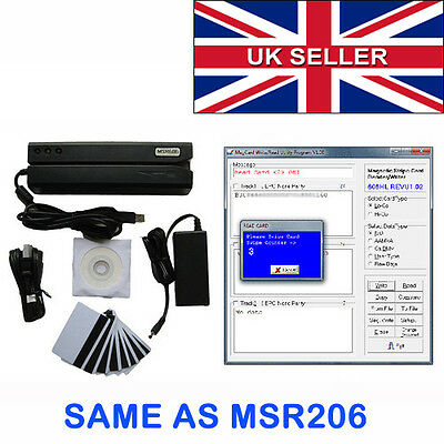 MSR 606 magnetic stripe card reader writer MSR206 MSR609 mag swipe card encoder