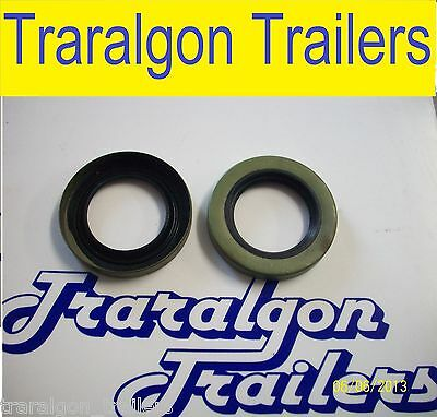 2x grease seal LM, trailer axle wheel bearing grease oil seal ford holden N16