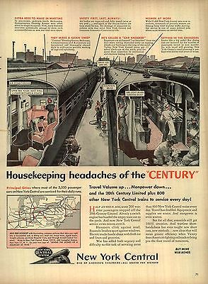 1944 New York Central Ad Housekeeping headaches of the century 4405