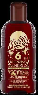 Malibu Bronzing Tanning Oil SPF 6 With Tropical Coconut Fragance 200ml