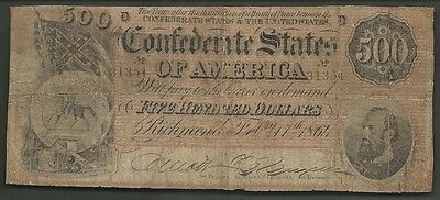 $500 1864 Confederate==Stonewall Jackson==Civil War==Very Good+