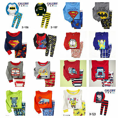 New  Baby Boys Long Sleeve Pyjamas Cute Design at Size 2Y.3Y.4Y.5Y.6Y.7Y