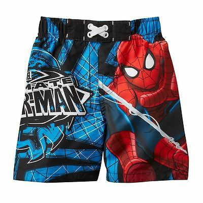 New Boys Spiderman Swimsuit Bathing Suit 2T 3T 4T NWT