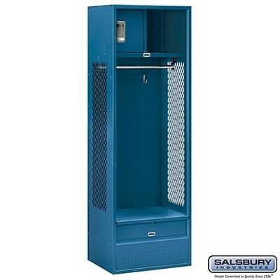 "Salsbury Open Access Standard Metal Locker - 6 feet H x 18"" D x 24"" W Blue NEW"