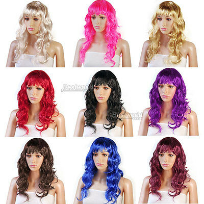 Womens Long Full Curly Fancy Dress Party Wigs Cosplay Costume Ladies Wig