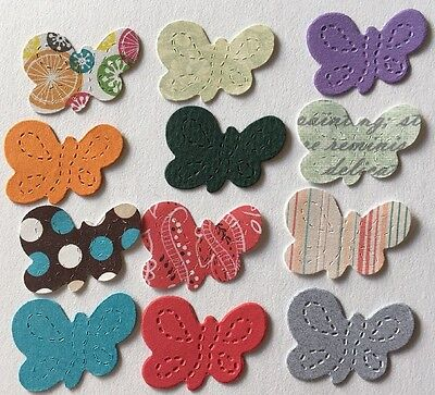 """BUTTERFLY SM Die-Cuts(12pc)Approx:1-1/2"""" X 1""""•Garden•Nature•Bugs •Flying•Insect"""