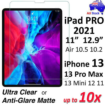 """Ultra Clear or Matte Screen Protector for NEW iPad PRO 11"""" 12.9"""" iPhone XR XS"""