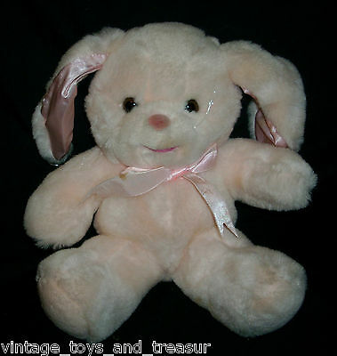 "12"" Vintage 1990 Commonwealth Pink Stuffed Animal Plush Toy Bunny Rabbit Soft"