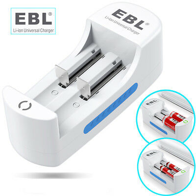EBL 18650 Charger For 16340 26650 10440 Rechargeable Battery Fit AA AAA US PLUG