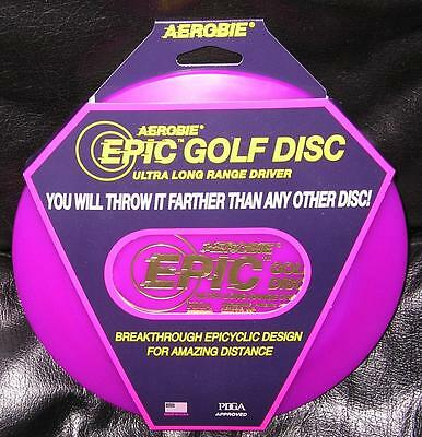 Aerobie Purple Epic Golf Driver Disc New