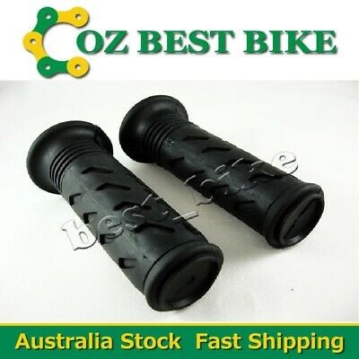 Twist Throttle Black Rubber Grips 22mm Handle bar ATV Quad Pit Pro Dirt Bike