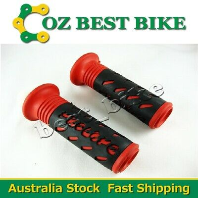 Twist Throttle Red Rubber Grips 22mm Handle bar ATV Quad Pit Pro Dirt Bike