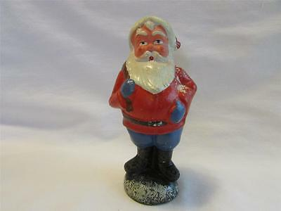 Antique German Composition Santa Christmas Candy Container 6.25""