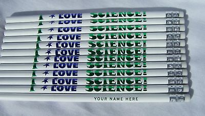 12 Personalized I LOVE SCIENCE Pencils