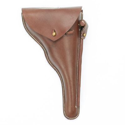 German WWI Navy Luger P04 Brown Leather Holster, Naval P-04 Luger Holster