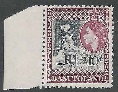 Basutoland 1961 Qeii R1 On 10/- Type I