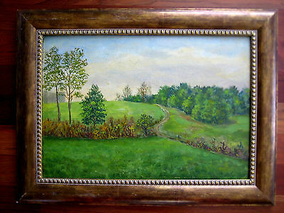 Vintage Russian Painting Soloviev 1978  Peredelkino Moscow Serene Nature Gulag