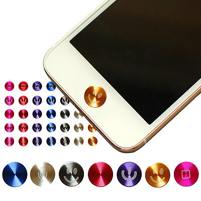 Premium Aluminum Home Button Sticker for iPhone 7 6 6S Plus 5S SE iPad Air Mini
