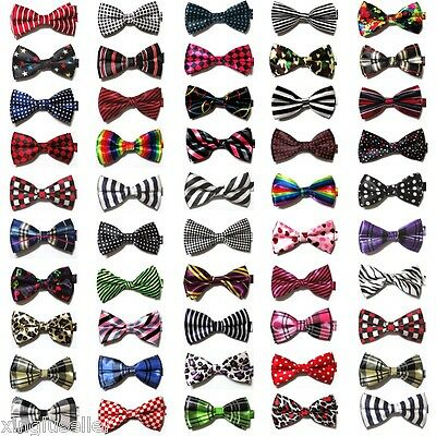 LOT 30 Patterns Mens Silk BOW TIE Novelty Tuxedo Plaid Checker Wedding Pre Tied